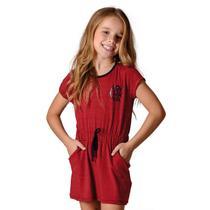 Vestido Flamengo Infantil Noob Braziline -