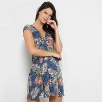 Vestido Flora Zuu Curto Fenda Floral -