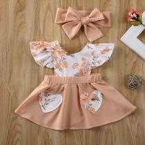 Vestido floral+faixa bebê menina lc0104 - Le Catito Baby