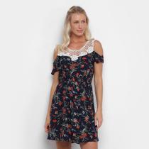 Vestido Heli Curto Guipir Floral -