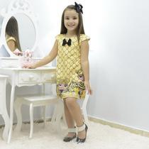 Vestido infantil boneca lol queen bee abelhinha - tubinho trapézio - Moderna Meninas