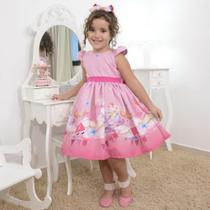 Vestido infantil da Peppa Pig rosa - Moderna Meninas