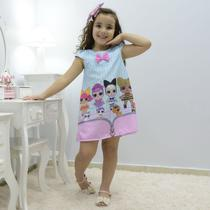 Vestido infantil das mínis bonecas Lol surprise - fashion - Moderna Meninas