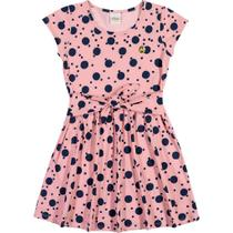 Vestido Infantil Elian - Em 100% Algodão - Rosa Claro Tamanho:04 -