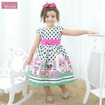 Vestido infantil festa com tema das mínis bonecas Lol surprise - Moderna Meninas