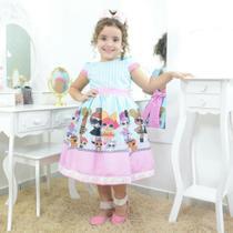 Vestido infantil festa tema das mínis bonecas Lol surprise - Moderna Meninas