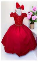 Vestido Infantil Festa Vermelho Renda - Puzzle Company