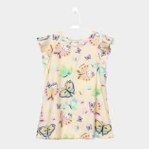 9bf07d6cc Vestido Infantil Hello Kitty Estampa Floral Detalhe Babado -