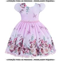 Vestido Infantil Jardim Encantado Floral Dama de Honra - Giovanella