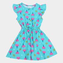 Vestido Infantil Malwee Malha Estampado Feminino -