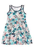 Vestido Infantil Marisol Floral Cinza -