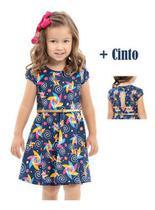 Vestido Infantil Menina Catavento Saia Festa Ano Novo +cinto - Anjo Da Mamãe