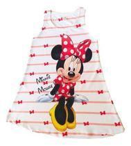 Vestido Infantil Menina Festa Aniversário Disne Minnie Mouse - Anjo Da Mamãe