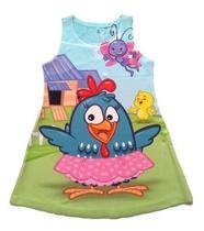 Vestido Infantil Menina Festa Aniversário Galinha Pintadinha - Anjo Da Mamãe