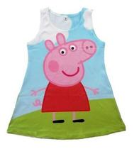 Vestido Infantil Menina Festa Aniversário Peppa Pig Pepa Pig - Anjo Da Mamãe