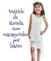 Vestido Infantil Menina Saia Renda Festa Ano Novo Macaquinho - Anjo Da Mamãe