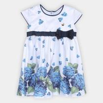 Vestido Infantil Milon Acetinado Floral -