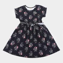 Vestido Infantil Milon Cotton Paris Com medalhinha e Laço -