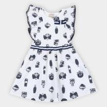 Vestido Infantil Milon Perfume Manga Borboleta -