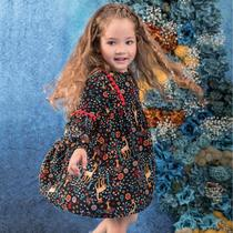 Vestido Infantil Nanai Tricoline Viscose -