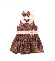 Vestido Infantil Oncinha com Laço e Tiara - Sassy