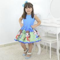 Vestido Infantil tema Luccas Neto e Gi - Moderna Meninas