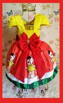 Vestido Infantil tema Magali vermelho - Primicias