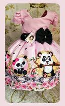 Vestido Infantil tema Panda / Urso - Primicias