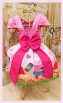 Vestido Infantil tema Porquinha - Primicias