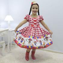 Vestido infantil tema quadrilha - Festa Junina da Lol Surprise - Moderna Meninas