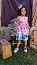 Vestido Infantil Temático Galinha Pintadinha - Personagen