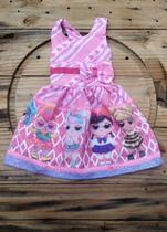 Vestido infantil temático LOL - Online Fashion