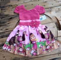 Vestido Infantil Temático Masha e o Urso - Online Fashion