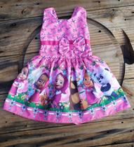 Vestido Infantil Temático Masha e o Urso - Personagen