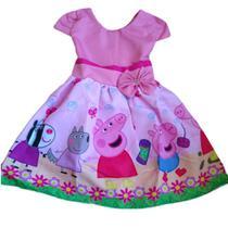 Vestido Infantil Temático Peppa Pig - Florata Baby Kids