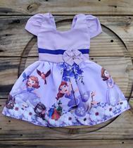 Vestido Infantil Temático Princesa Sofia - Online Fashion
