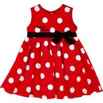 Vestido Infantil - Tricoline - Poás - Minnie Mouse - Disney -