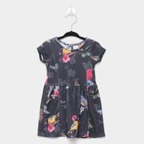 Vestido Infantil Up Baby Floral Pássaros -