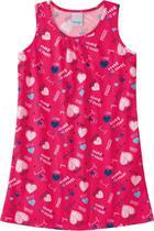 Vestido Infantil Verão Rosa Coração Malwee -
