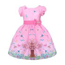 Vestido Jardim Encantado Rosa Infantil Festa - Atelie Iza Rocha