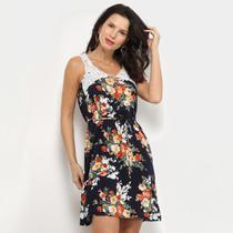 Vestido Jin Curto Floral Amarração -