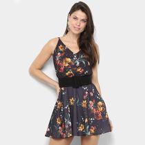 Vestido Lança Perfume Curto Evasê Floral -