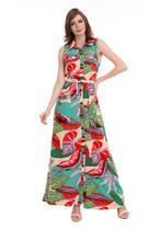 Vestido Longo Botões com Cordão - Kinara