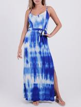 Vestido Longo Tie Dye Autentique Feminino Azul -