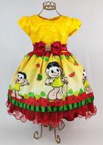 Vestido magali infantil aniversario 1 ao 4 - Xuxuzinhos Baby