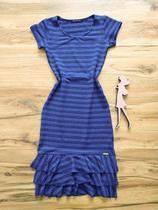 Vestido Marina Peplum Saia Bella SB774011 - Azul -