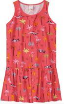 Vestido Menina Marisol Play Flamingos Laranja -