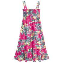 Vestido Midi Infantil Brandilil Floral E Fruta Feminino -