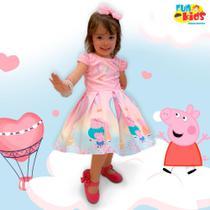 Vestido Peppa Pig Cute Tamanho 12 - Fun Kids