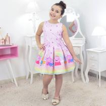 Vestido Peppa Pig Rosa - Moderna Meninas